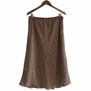 Max Studio | Leopard Dot Midi Skirt | Size L